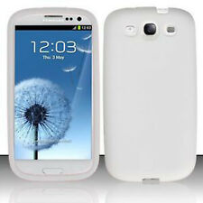 For Samsung Galaxy S III 3 Rubber Silicone Gel Skin Case Phone Cover White