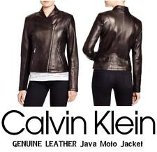 CALVIN KLEIN GENUINE LEATHER Java Moto Jacket - Women's XS - New with Tags