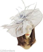 Nuevo Sombrero de Boda para Mujer endurecidas Crema madre de la novia novio Ascot Ladies días