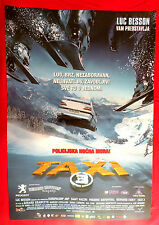 TAXI III 2003 LUC BESSON SAMY NACERI BERNARD FARCY UNIQUE SERBIAN MOVIE POSTER