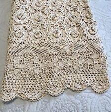 Keeco Hand Crochet Lace Coverlet Ecru
