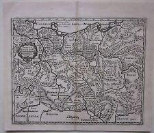 1697 SVEVIA Pomerania Philipp Cluver acquaforte su rame Schwaben Pomorze Pommern