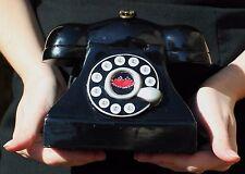 TIMMY WOODS MARILYN MONROE BLACK TELEPHONE LIPS PURSE SWAROVSKI CRYSTAL SEX CITY