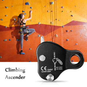 Safety Climbing Protective Ascender 220LB Climbing Protective Device Rope Grip.