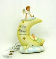 Roman Sweet Dreams Nightlight Tabletop Plug-in Electric Angel Baby Prayer Moon