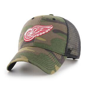 NHL Detroit Red Wings Cap Basecap Baseballcap Branson Trucker 192309816205 Camo