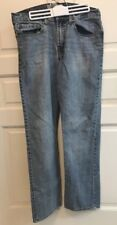 Wrangler Jeans Men's 33 X 32 Light Blue Wash~Slim Straight Fit RN 130273 92HD0DB