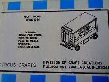 Circus Craft - Hot Dog Circus Wagon Ho -1/8 Scale- Nib