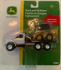 Official John Deere Toy by Tomy Working Parts Flat Truck & Skidsteer New in Box