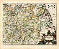 MAP ANTIQUE BLAEU THEATRE DU MONDE WESTPHALIA LARGE REPLICA POSTER PRINT PAM0691