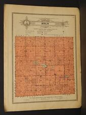 Minnesota Steele County map Berlin Township 1914 W4#82
