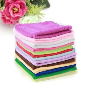 Multi-Color Home Kitchen Soft Soothing Cleaning Wash Cloth Hand Towel Face Bath