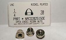 1/4-20 Open End Acorn Cap Nuts Zinc Alloy Nickel Plated (20)