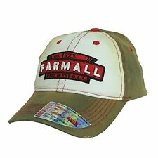 Farmall Tea Stained Distressed Baseball Hat Brown/Red