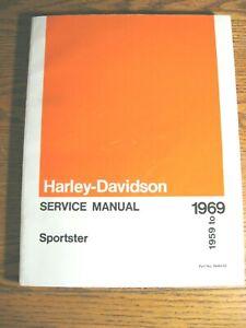 1959 1960 - 1969 Harley-Davidson XLCH XLH 1000 Sportster SERVICE, Shop MANUAL