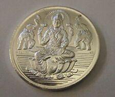 Diwali Lakshmi 20 Gram Silver Coin W/Shree Praying India Hindu God New Year