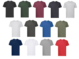 5 Pack Fruit of the Loom New Men Super Premium T-Shirt Round Neck Casual Tee Top