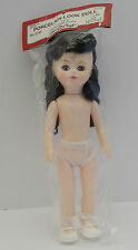"Vintage 1989 Fibre Crft Porcelain Look 11½"" Doll #3196 Plastic w/Black Hair"
