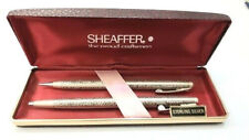 Vintage Sterling Silver Executive Sheaffer Pen & Pencil Writing set womans NEW