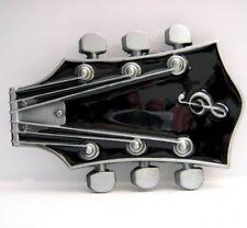 Boucle avec Tête Guitare, Noir Guitare, Droit Grand,