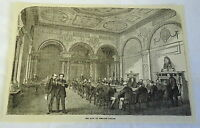 1882 magazine engraving ~ The BANK OF ENGLAND Parlor