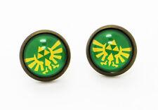 The Legend of Zelda Earrings ゼルダの伝説 Green Zelda Symbol Logo Cosplay Japan Anime