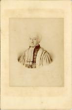 Portrait homme à identifier, reproduction dessin, ca.1875, vintage albumen print