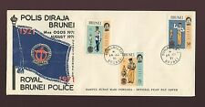 BRUNEI 1971 POLICE FIRST DAY COVER VFU UNADDRESSED ILLUSTRATED