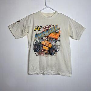 Vintage Jeff Swindell World of Outlaws Shirt Big Print Single Stitch Vtg
