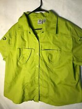 Platinum Slightly Stretchy Pocket Front Button Down Cap Sleeve Shirt 22/2/24 W