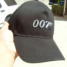 """Two """"007"""" James Bond New Original Cap , Hat with cilicon emblom, Great Gift"""