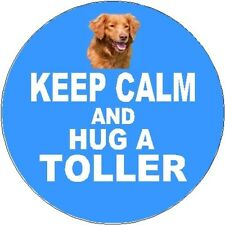 2 Nova Scotia Duck Tolling Retriever Car Stickers (Keep Calm & Hug) By Starprint