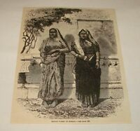 1886 magazine engraving ~ HINDOO WOMEN OF BOMBAY