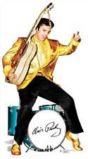 Elvis Presley gold jacket and drums LIFESIZE CARDBOARD CUTOUT standee standup