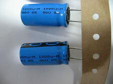 Lotto 10 Condensatori 1000µF 1000MF 1000UF 1mF 50V condo radiale philips 105°