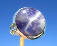 Chevron - Amethyst Ring Grösse 18,5 Silber 925  !