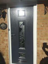 city spire-spiro Composite Door (£905.00 Fully Fitted) IN GREY