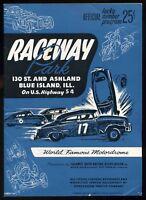 Original Vintage 1952 Raceway Park Stock Cars Blue Island Motordrome Program