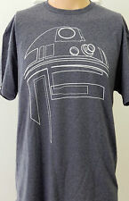 Blue Star Wars R2-D2 Outline Large T Shirt Gift for Him Droid R2D2