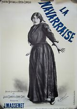 "Authentic Vintage French Opera Poster ""La Navarraise"""