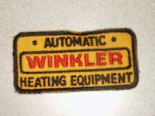 RARE Vintage Advertising Patch Winkler Heating Equipment  NICE