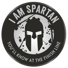 "I AM Spartan Race Aroo 2  Vinyl Decal Sticker 3""  Trifecta white Gray Black OCR"
