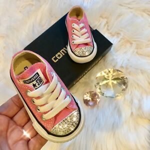 Bling Converse All Star Chuck Taylor Infant Toddler Shoes w/ Swarovski Crystals