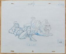 He-Man original production Cel / Drawing: HE-MAN & BATTLECAT
