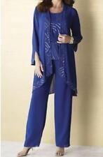 Mother of Bride Groom Braidesmaid Women's Wedding party 3PC pant set suit plus2X