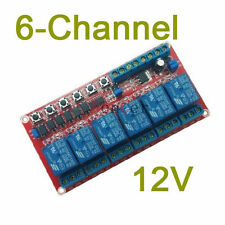 6-channel 12V latching relay module Switch controls the high voltage H current