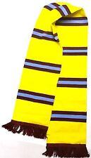 Amarillo Bufanda de punto bufanda Borgoña Barra Azul
