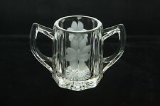 DUNCAN MILLER ANTIQUE CUT GLASS CRYSTAL GABLE # 54 PATTERN TOOTHPICK HOLDER EAPG