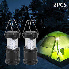 2 x 30 LED Portable Camping Torch Battery Operated Lantern Night Light Tent Lamp
