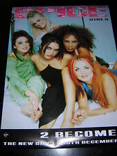 ORIGINAL SPICE GIRLS PROMOTIONAL POSTER - 2 BECOME 1